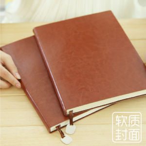 professional Custom Leather Cover Promotional Notebook pictures & photos
