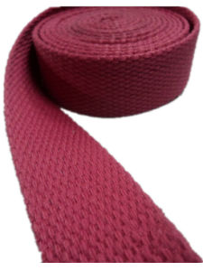 25.4mm Light Red Thicken Plain Polyester Cotton Webbing pictures & photos