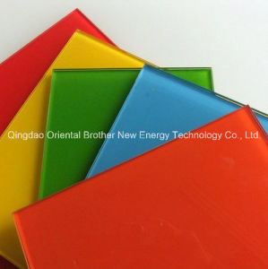 Painted Colored Glass for Silver Mirror and Building Glass pictures & photos