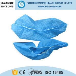 Operating Room Blue Non Woven Shoes Covers pictures & photos