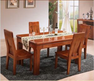 Manchurian Ash Wood Dining Table Set pictures & photos