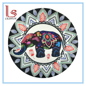 Eco Friendly Elephant and Peacock Round Beach Towels pictures & photos