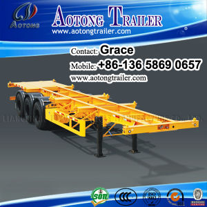 Hot Sale Container Truck Trailer, Terminal Skeleton Container Transport Semitrailer pictures & photos