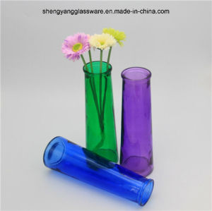 Hot Sell Spray Colors Glass Vase for Home Decoration pictures & photos