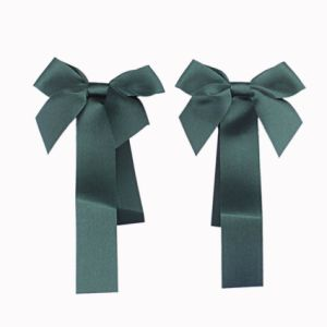 Green Satin Ribbon Bow pictures & photos