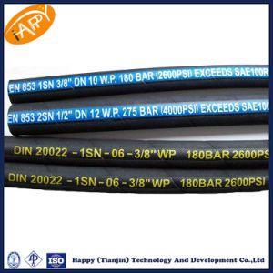 Tianjin En853 1sn Manufacturing Medium Braid Rubber Hose Pipe pictures & photos