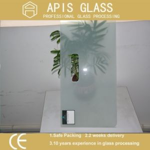3.2mm Ultra Clear Semi-Transparent Silk Screen Printing Tempered Glass for Privacy pictures & photos