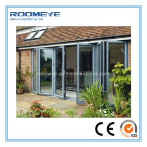 Roomeye Double Glass Aluminium Folding Door for Patio/Veranda/Sunroom pictures & photos