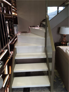 Real Wooden Glass Handrail Home Used Staircase pictures & photos