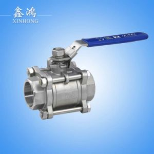 "3PC 201 Stainless Steel Thread Ball Valve Dn15 1/2"" pictures & photos"