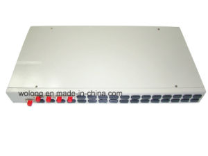 1X4 Rack Mount Fiber Optic Splitter FC PC
