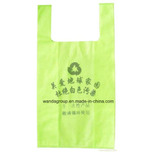 Good Quality Plastic T-Shirt Bag in Pack pictures & photos
