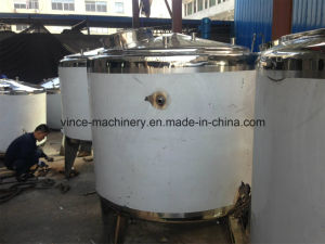 Three Layers Stainless Steel Mixing Tank with Agitator pictures & photos