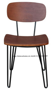 Morden Industrial Metal Dining Restaurant Furniture Wooden Chair pictures & photos