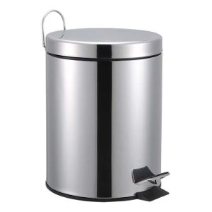 Stainless Steel Plastic Liner Foot Pedal Waste Bin for Hotel pictures & photos