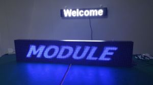 P10 Moving Text High Brightness LED Sign/ LED Display Board/ LED Scrolling Message pictures & photos