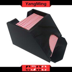 Deck / Casino Poker Dealer Shoes Black Color Gambling Dedicated Acrylic Shoes Ym-Ds07 pictures & photos