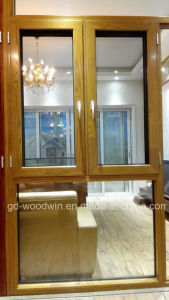 Woodwin Hot Seller Wood and Aluminum Composite Window with Double Glass pictures & photos