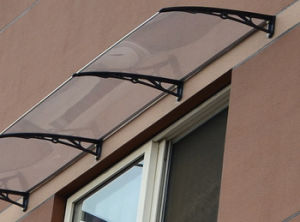 Bronze Color Polycarbonate Waterproof Awning Window or Door Canopy