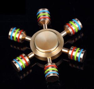 Hot selling new Hexagonal Brass Hand Spinner fidget pictures & photos