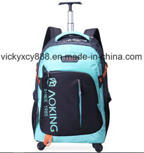 Big Capacity Wheeled Trolley Business Travel Laptop Backpack Bag (CY3716) pictures & photos