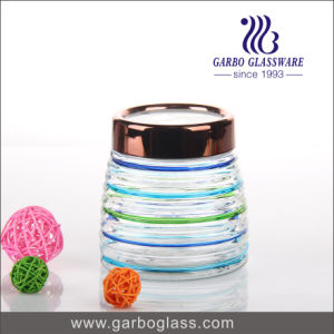 Colorful Storage Jar with Stainless Steel Lid pictures & photos
