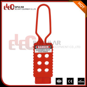 Safety Non-Conductive Insulation Six Holes Nylon Plastic Electrical Lockout Hasp pictures & photos