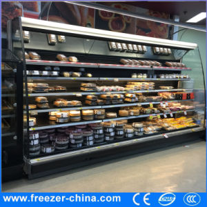 110V Multideck Open Display Beer Cooler with Air Curtain for Grocery Store pictures & photos