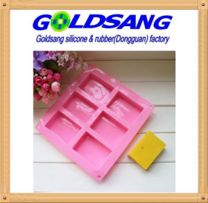 6 Cavity Rectangle Silicone Soap DIY Mold pictures & photos