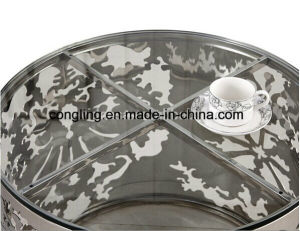 Luxury Design Round Glass Coffee Table for Sale pictures & photos