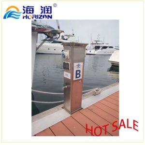 Good Quality Aluminum Alloy Water Power Pedestal / Marina pictures & photos