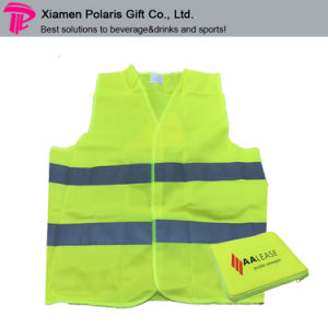 High Quality EU Standard High Visibility Reflective Safety Vest with Self Pouch pictures & photos