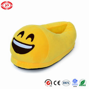 Big Laugh with Tears Funny Yellow Plush Stuffed Soft Slippers pictures & photos