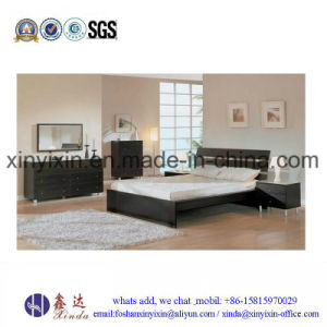Low Price Wooden Bed MDF Melamine Bedroom Furniture (SH042#) pictures & photos