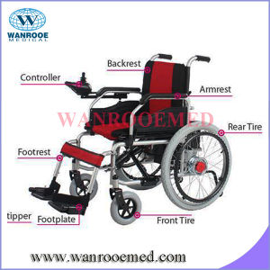 Pneumatic Tires Two Motors Electric Wheelchair pictures & photos