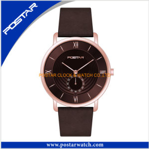 Newest Design Quartz Watch for Men with Genuine Leather Band pictures & photos