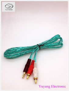 RCA Cable, AV/TV Audio Cable, 2 RCA Plug to 3.5mm/3.5 Stereo Plug pictures & photos