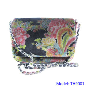 Chinese Style Vintage Velvet Evening Bag Party Clutch Women Purse