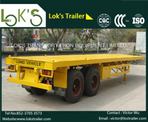 40feet Bogie Container Flatbed Semi Trailer pictures & photos