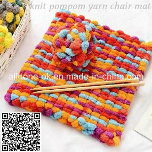 Hand Knitting POM POM Fancy Yarn Knit Crochet Mat Scarf pictures & photos