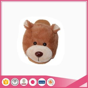 Animal Head Women Cute Bear Slippers pictures & photos