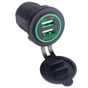 2 Port Power Socket Waterproof Dual USB Car Charger USB pictures & photos