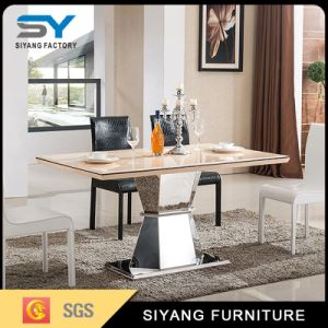 Stainless Steel Furniture Dining Table Set Marble Dinner Table pictures & photos