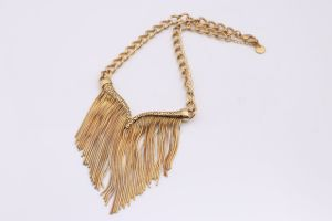Stainless Steel Silver Tone Bar Tassel Jewelry Necklace pictures & photos