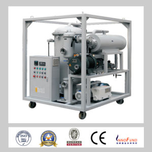 Double-Stage High Vacuum System Mobile Transformer Oil Purification Plants pictures & photos