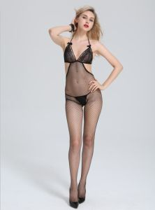 Dirty Girl Fishnet Lace Erotic Sexy Bodystocking with Bra pictures & photos