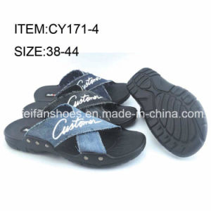 Latest Design Comfortable Beach Sandals Men Casual Slippers Shoes (FFCY0412-03) pictures & photos