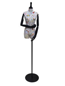 Half Body Fabric Wrapped Mannequin for Windows Dress pictures & photos
