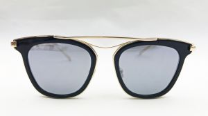 Elegant Black Acetate Eyewear for Lady Block Temple in K. Gold Plating pictures & photos