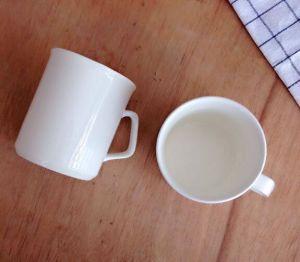 Custom White Ceramic Coffee Mug with Square Handle pictures & photos